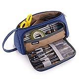 Grande Trousse Scolaire, Une Belle Trousse à Crayons de Grande Capacité avec Deux Compartimen,...