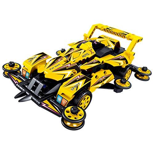FADF Technic 434 piezas de bloque de construcción de coche, juego de construcción de coche 4WD Pull Back Kit de construcción de coche compatible con Lego