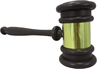 Nicky Bigs Novelties Plastic Novelty Judges Gavel Costume Accessory, Brown/Gold, One Size