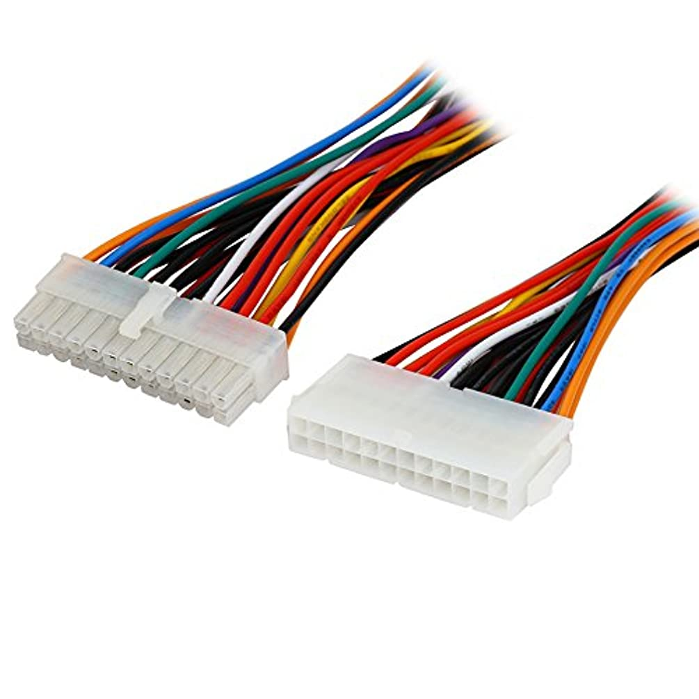 Computer Cables 8 inch Computer Molex 24 Pin Motherboard to ATX EPS PSU Power Supply Extension Cable,24-pins Internal Power Cord,Male to Female - (Cable Length: 203mm)