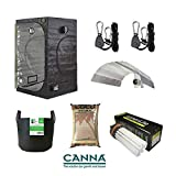 Complete Grow Tent Kit Green Box Canna Coco - 125w Veg CFL Bulb & Reflector - 80 X 80 x 180cm Grow Tent