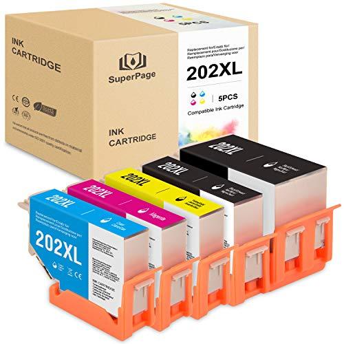 Superpage sostituzione per Epson 202XL 202 XL Cartucce d'inchiostron per Epson Expression Premium XP-6000 XP-6005 stampanti(2nero 1ciano 1Magenta 1giallo)