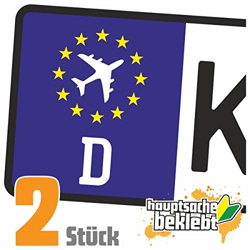 Flugzeug - Airplane Kennzeichen Aufkleber Sticker Nummernschild - IN 15 FARBEN