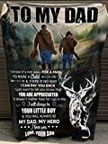 to My dad i Know It's not Easy for a Man to Raise a Child, I Will Always be Your Little boy Blanket from Your Son with Deer. (Velveteen Plush Blanket, 60x80)