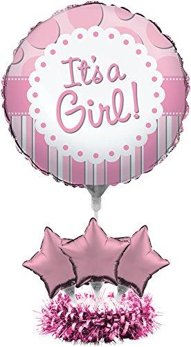 Creative Converting Pallone Mylar It's a Girl, Poliestere, Rosa