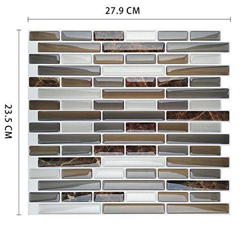 Verwijderbare schil zelfklevend mozaïek marmeren tegel backsplash muursticker vinyl badkamer keuken woondecoratie, MSOB-088, medium
