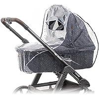 Zamboo - Protector de lluvia universal para cochecitos y capazos de bebé - Burbuja de lluvia con ventana con visera, buena circulación de aire, libre de sustancias nocivas