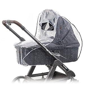 Zamboo – Protector de lluvia universal para cochecitos y capazos de bebé – Burbuja de lluvia con ventana con visera…
