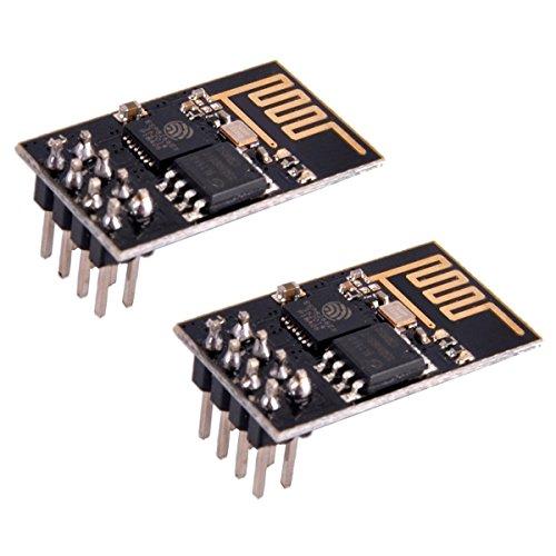 IZOKEE 2 Piezas ESP8266 ESP-01 Serie Módulo WiFi