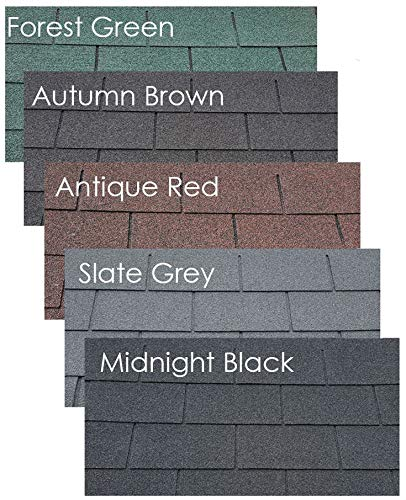 Felt Shingles Midnight Black Square 4 Tab Shed Roofing Tiles