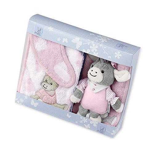 Sterntaler Geschenk-Set Emmi Girl, Lätzchen, Spieluhr und Waschhandschuh, Alter: ab 0 Monaten, Rosa