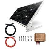 TP-solar 100W 12V Panel Solar Kit Cargador de Batería 100 W 12 V Sistema de rejilla para Casas RV Barco + driver de Carga Solar 20A + Cables Solar + Soportes para Montaje