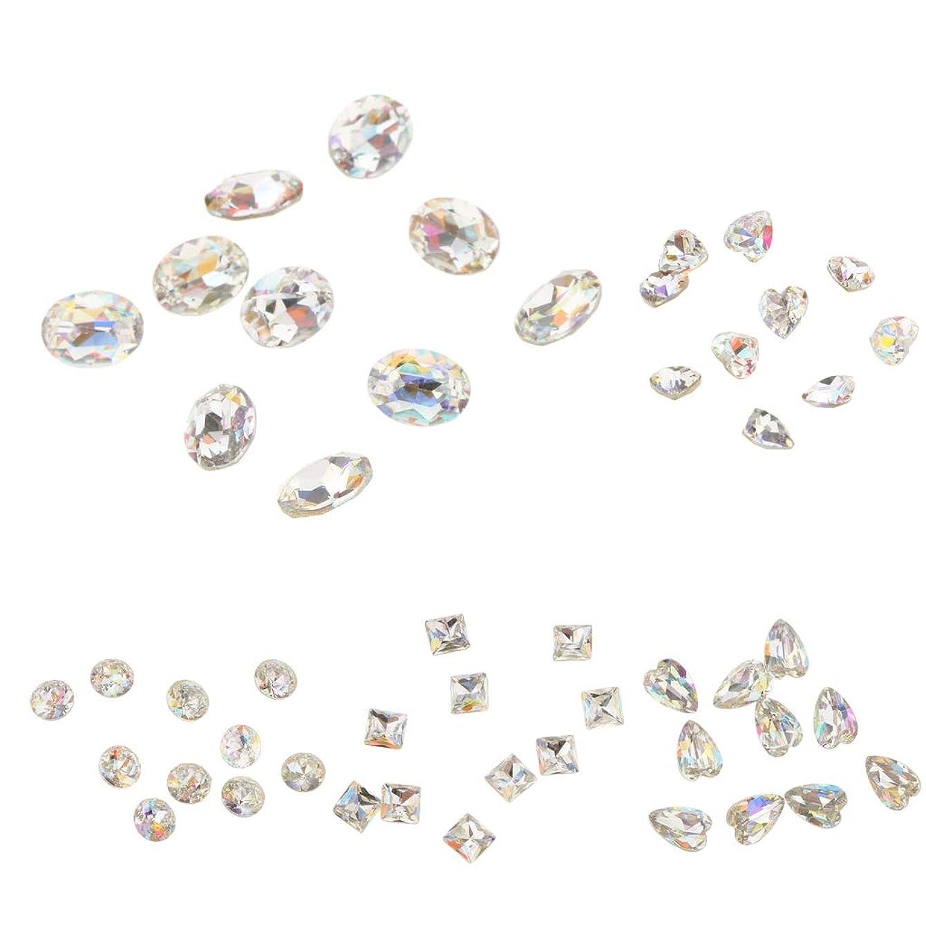 到着する火炎富P Prettyia 約50本 ネイルチップ ネイルチャーム 3Dネイルネイルチャーム  ダイヤモンドチップ