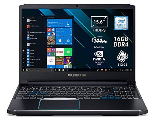 Predator Helios 300 PH315-52-74NL Notebook Gaming Portatile, Intel Core i7-9750H, Ram 16 GB DDR4, 512 GB PCIe NVMe SSD, Display 15.6  FHD IPS 144 Hz, NVIDIA GeForce RTX 2060 6 GB GDDR6,Windows 10 Home