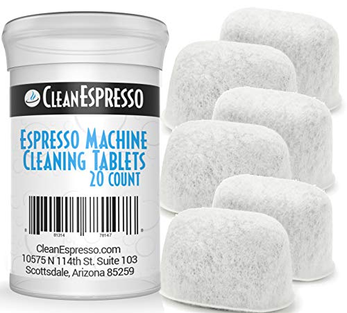 Espresso Machine Cleaning Tablets for Sage Machines + 6 Charcoal Replacement Water Filters - Model SAG+6 - Espresso Machine Accessories by CleanEspresso