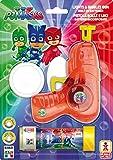 Dulcop- Pj Masks-Super Pigiamini Pistola Spara Bolle con Luci E Suoni, Multicolore, 500210018