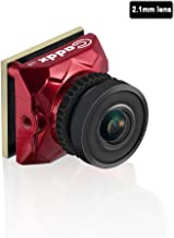 Caddx Ratel Newest FPV Camera 1/1.8'' Starlight HDR OSD 1200TVL 16:9 NTSC 2.1mm Lens for FPV Quadcopter Racing Drone (Red)
