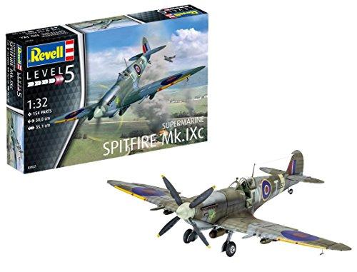 Revell Supermarine Spitfire MK.IXc, Kit de Modelo, Escala 1: 32 (3927) (03927)
