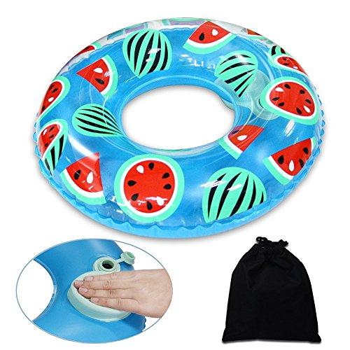 Onlydroid Schwimmring Schwimmreifen für Erwachsene Druck zum Aufblasen Wassermelone Schwimmhilfe 100CM