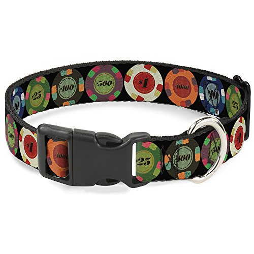 Buckle-Down Cat Collar Breakaway Poker Chips 1 8 to 12 Inches 0.5 Inch Wide