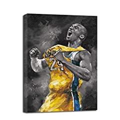 We've created special art for you—to honor the memory of one of the greatest players in NBA history, we hope this arts will be a daily reminder to lift yourself to excellence and to be strong. Quality: Canvas Kobe Bryant's wall art painting is hand-m...