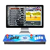 ARCADORA 8 Buttons Pandora Box CX Retro Arcade Video Games Console, 2800 Games in 1, Supports 4 Players, 3D Game, Accurate Search, Pause Function, VGA and HDMI,1280x720 HD, Auto Saving Rank Score