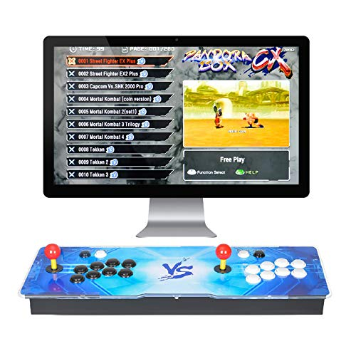 ARCADORA 3A Original Pandora Box CX Retro Arcade Video Games Console, 2800 Games in 1, Supports 4 Players, 8 Buttons, 3D Game, Accurate Search, Pause Function, VGA and HDMI,1280x720 HD