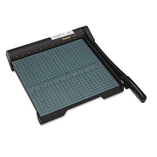 Martin Yale W12 Premier Heavy-Duty Green Board Wood Trimmer, Cut Up To 20 Sheets at One Time, Steel Blades, 12 Inches, Green