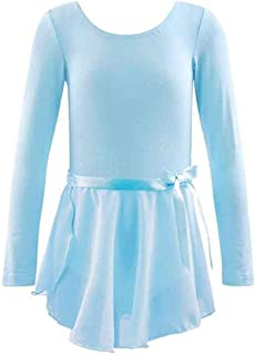 ملابس الاطفال Girls Spring and Summer Long-sleeved Cotton Dance Training Clothing Set, Size:120CM(Pink) ملابس الأولاد (Color : Light Blue)