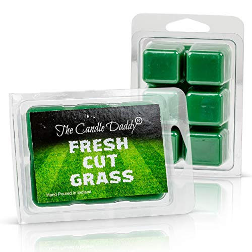 The Candle Daddy Fresh Cut Grass Golf Course Scented Melt- Maximum Scent Wax Cubes/Melts- 1 Pack -2 Ounces- 6 Cubes