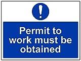 Vsafety 42020bf-r obligatorio maquinaria Sign, plástico