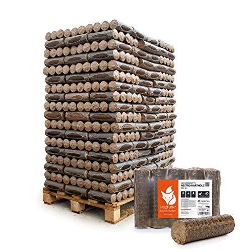 HEIZFUXX Holzbriketts Hartholz Nestro M Kamin Ofen Brenn Holz Heiz Brikett 6kg x 162 Gebinde 972kg / 1 Palette Paligo