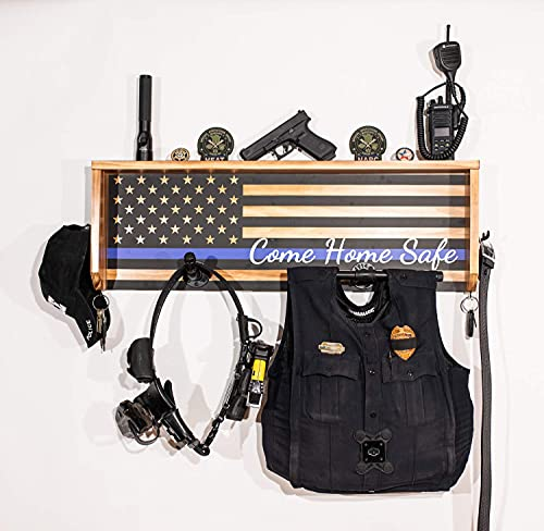 StandNtall Wall Mounted Tactical Duty Gear Rack with Police...
