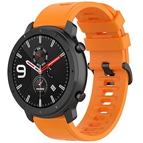 Braleto Correa Compatible con Amazfit GTR 47mm / Pace/Stratos, Correa de Reloj de 22mm para Amazfit GTR 47mm (Naranja)