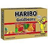 Haribo Gummi Candy Goldbears Theater Box, 3.4 oz. Box (Pack of 12)