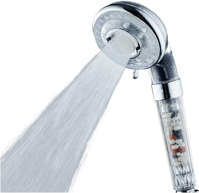 LYHSWANG SPA Watersaving Showerheads 4 Gear ABS High Pressure Shower Filter Bathroom Shower Head