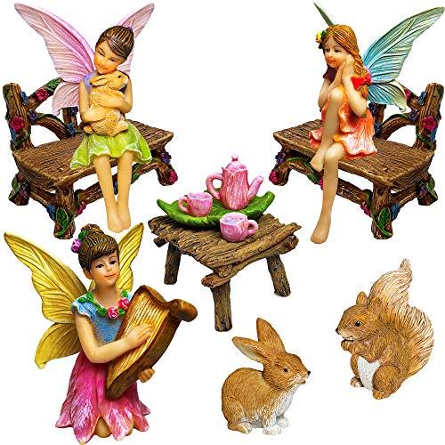 Fairy Garden - Miniature Figurines and Accessories Starter Kit - Fairy Garden Set of 12 pcs