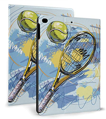 Tennis Racket PU Leather Smart Case Auto Sleep/Wake Feature for iPad Air 1/2 9.7' Case