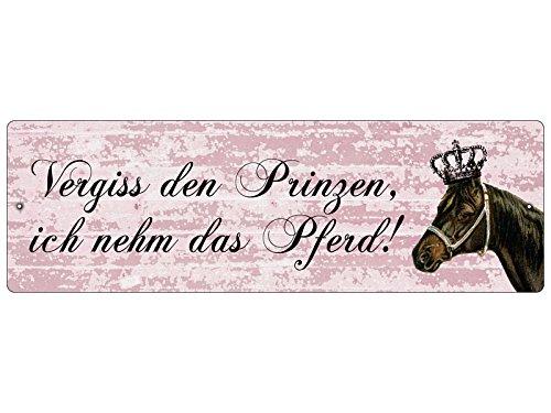 Interluxe KUNSTSTOF Bordje Autoschild VERGISS DE Prinzen deurplaat glazen deur venster