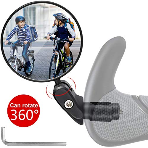 Espejo de Bicicletas Espejo retrovisor de Bicicletas Retrovisor 360 ° Mirador de Manillar con Lente Gran Angular Espejo retrovisor de Seguridad, para Bicicletas de montaña/Ciclismo