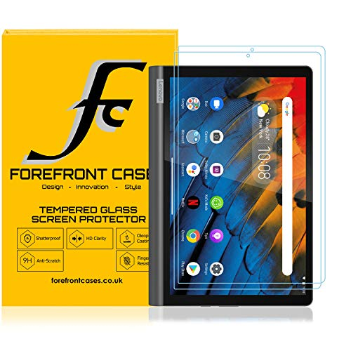 Forefront Cases Screen Protector for Lenovo Yoga Smart Tab 10.1 2019, Tempered Glass - 2 Pack - Lenovo Yoga Smart Tab Screen Protector - 9H Scratch Resistant, HD Clear, 3D Touch Support