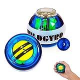 EZSMART LED Gyroscope Poignet Entraîneur Exercise la Balle avec Affichage du Compteur, Équipement de Formation de Force Grip Exerciseur Gyro Fitness Ball Muscle Relax (#1)