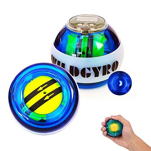 EZSMART LED Giroscopio Entrenador de muñeca Ejercicios Bola con Pantalla de mostrador, Equipo de Entrenamiento de Fuerza Ejercitador de Agarre Manual Gyro Fitness Ball Muscle Relax (#1)