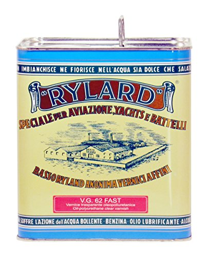 RYLARD VG 62 Fast Vernice trasparente oleopoliuretanica per legno, lucida, lattina da 2.500 ml.