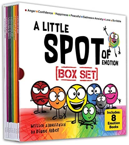 A Little SPOT of Emotion Box Set 8 Books Anger Anxiety Peaceful Happiness Sadness Confidence product image