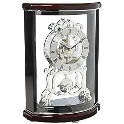 Bulova B2025 Wentworth Mantel Clock, Black & Mahogany