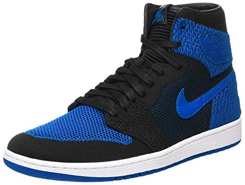 Nike Mens Air Jordan 1 Retro Hi Flyknit Black/Royal Flyknit Size 10