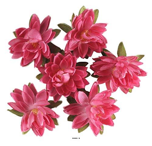 Artif-deco - Tetes de lotus x6 rose fuschia en sachet d 7 50 cm - choisissezvotrecoloris: fuschia