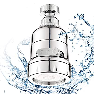 Srmsvyd Kitchen Faucet Head Water Filters Sprayer Attachment,360°Rotatable Moveable Kitchen Tap Purified Water Head.(Chrome finish)