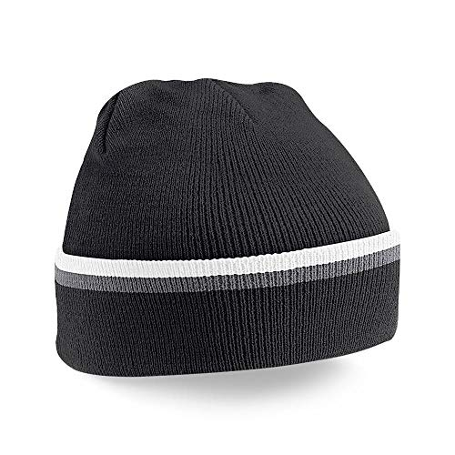 Beechfield B471.BLK-GPH-WHI Teamwear Bonnet Mixte, Noir, Taille Unique